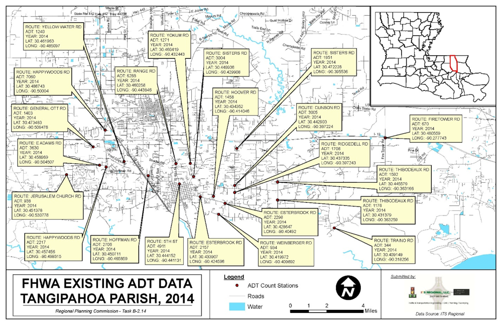 Traffic Data Collection - 7-day/24 Hour Classification Counts for RPC - Tangipahoa Parish